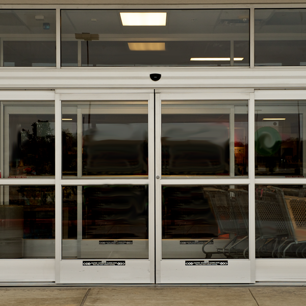 Automatic entry doors overhead door company of dallas for Exterior door companies
